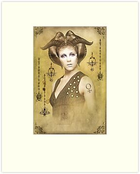 The Empress Card for the Sepia Stains Tarot by InsectsAngels