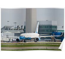90003 Air Force Two Boeing VC-32A 757-2G4 Head On Taxi Poster