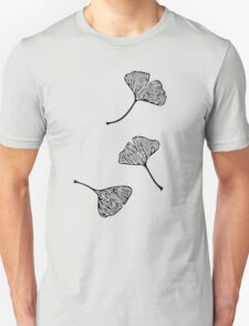 Ginkgo Vector Black on Warm Grey Unisex T-Shirt