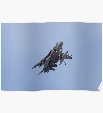 AV8B Harrier Head On Poster