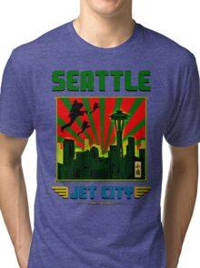SEATTLE - JET CITY Tri-blend T-Shirt