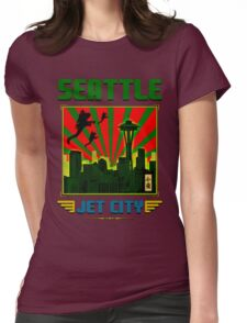 SEATTLE - JET CITY Womens Fitted T-Shirt