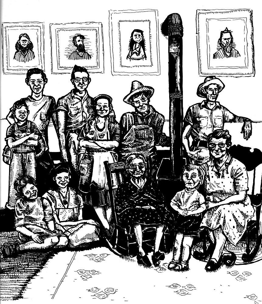 Depression Era Family Portrait by AOConnor