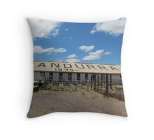 Historic Woolshed at 'Nutbush Retreat' Pundarra sheep station. Pt. Augusta. Throw Pillow