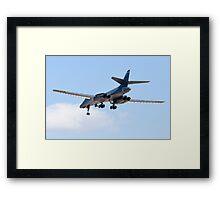 Rear Shot of a B-1B Bomber DY AF 85 105 Framed Print