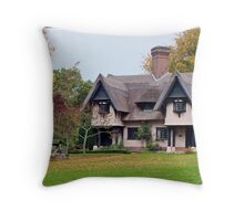 A Lodge Cottage Throw Pillow