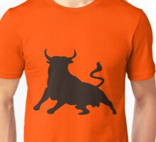 Bull on red Unisex T-Shirt