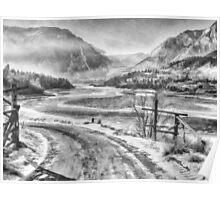 Snowy Fraser River Poster