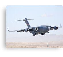 AFRC 05-5142 C-17 Globmaster III Landing Canvas Print