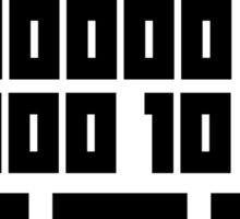 Fuck You - Binary Code Sticker