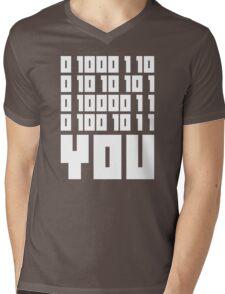 Fuck You - Binary Code Mens V-Neck T-Shirt