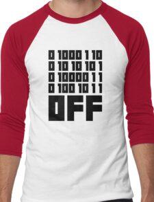 Fuck Off - Binary Code Men's Baseball ¾ T-Shirt