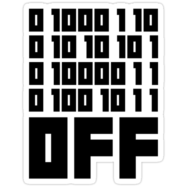 Fuck Off - Binary Code by no-doubt
