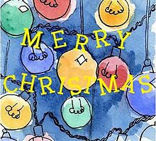 merry christmas lights by reddogcards