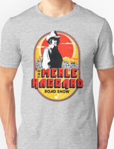 New Merle Haggard Country Music Tour Logo Men's Black T-Shirt T-Shirt