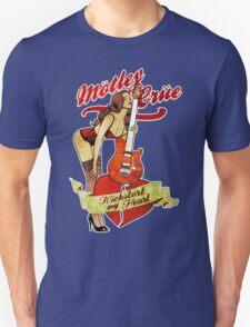 New MOTLEY CRUE Kickstart My Heart Rock Band Men's Black T-Shirt T-Shirt