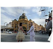 Candid Melbourne - Crossing the Road Poster