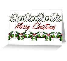 holly and mistletoe paperchain Greeting Card