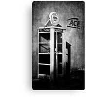 Public Telephone - Mono Canvas Print