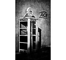 Public Telephone - Mono Photographic Print