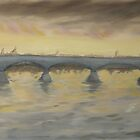 Sunset on the Ticino - Homage to Turner by Nicla Rossini