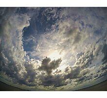 Square sky thru a round lens Photographic Print