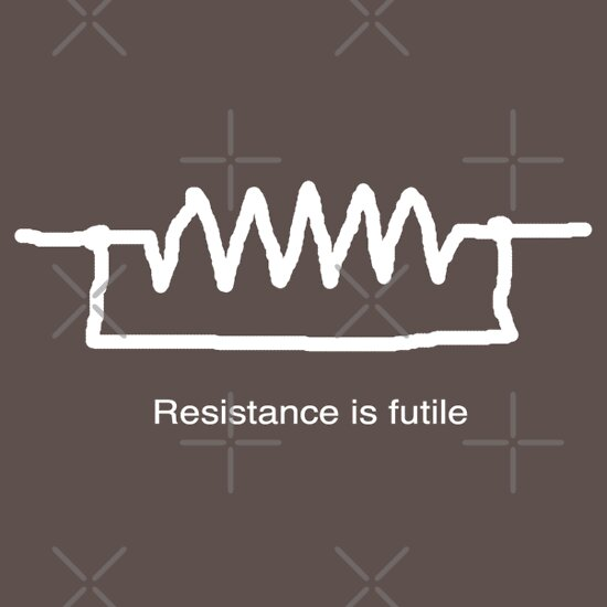 TShirtGifter presents: 'Resistance is Futile' Slogan T-Shirt