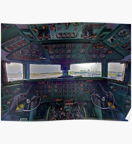 DC7B Cockpit Poster