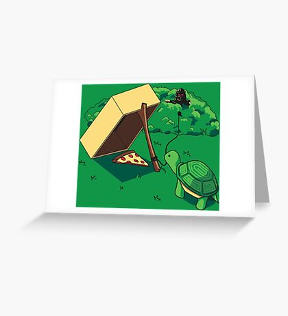 Turtle Trap Greeting Card