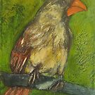Female Cardinal (Lady of the House) by Marcie Wolf-Hubbard