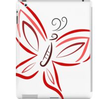 Red and pink butterfly iPad Case/Skin