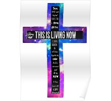 Hillsong Young & Free This is Living Now Cross Poster