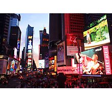 Times Square in New York City at night photography Photographic Print