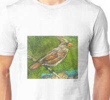 Well Traveled (Female Cardinal Perching) T-Shirt