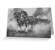 The Team Merry Christmas Greeting Card