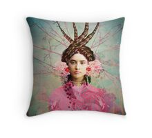 Portrait in Pastell Throw Pillow