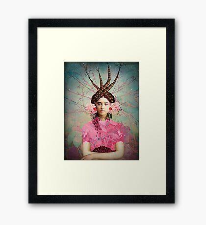 Portrait in Pastell Framed Print