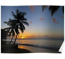 St Lucia Sunset Poster