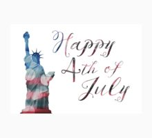 statue of liberty bokeh 4th of July One Piece - Short Sleeve