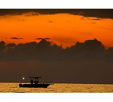 At sunset... Photographic Print