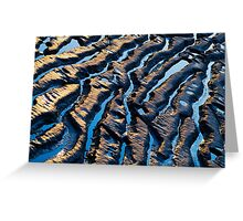 Wave patterns Greeting Card