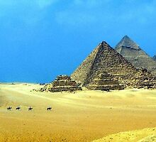 Pyramids of Giza, Egypt by rc2061988