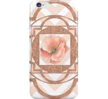 Persian Poppy, Rose Gold Quatrefoil, chevron iPhone Case/Skin