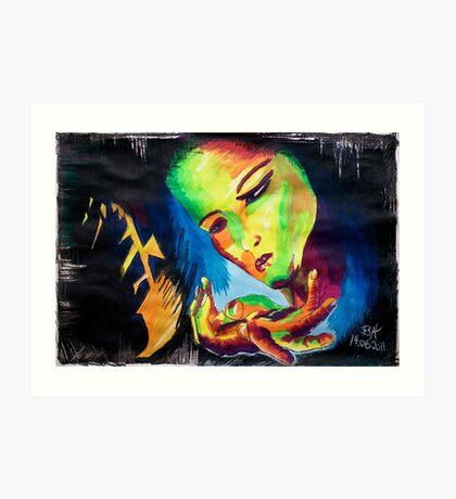 Girl in Love Art Print
