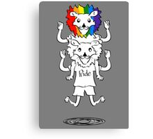 Gay Pride Of Lions Canvas Print