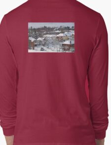 The Morning after a Big Snowstorm in Toronto, ON, Canada Long Sleeve T-Shirt