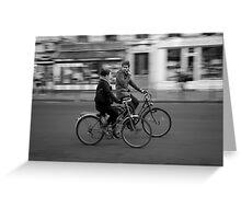 Paris and bicycles 1 Greeting Card