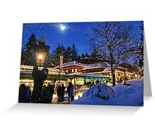 Carol Singers in the Snow (please view large) Greeting Card