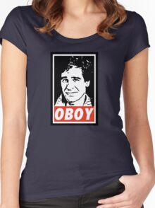 Obeying the Quantum Leap Women's Fitted Scoop T-Shirt