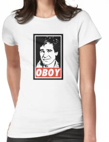 Obeying the Quantum Leap Womens Fitted T-Shirt